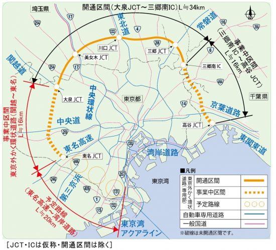 外環道計画ルート