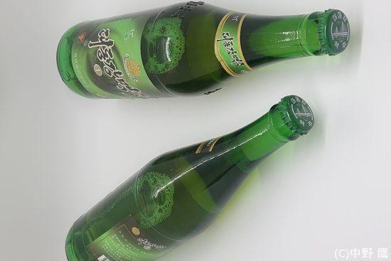 北朝鮮現地版の大同江ビール640ml大瓶