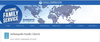 米家庭連合Indianapolis Family Churchの所在地と合致